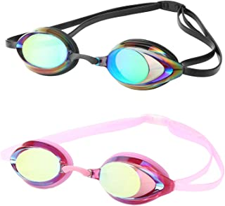 DARIDO Swim Goggles,Swimming Goggles Anti Fog UV Protection No Leaking,Best Clear Vision