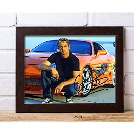 Fast and the Furious 8x10 Print Framed Paul Walker Autograph Replica Print