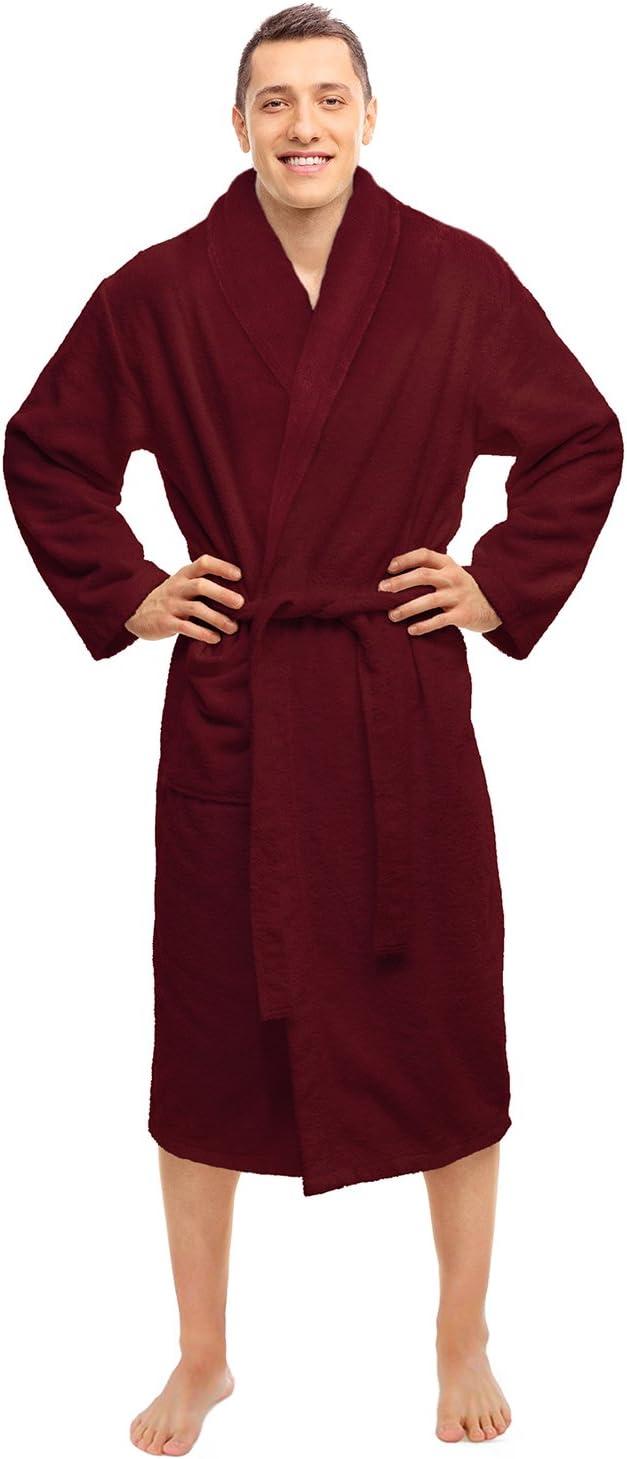 BLUENILEMILLS Hotel Spa Burgundy Robe Plush Long Ranking TOP3 specialty shop Weave Terry