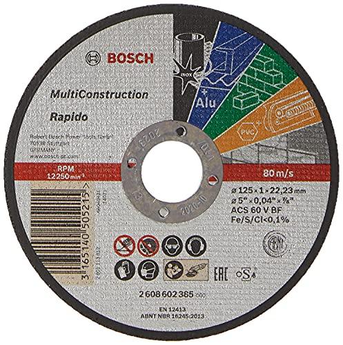 Bosch 2 608 602 385 - Disco de corte recto Rapido Multi Construction - ACS 60 V BF, 125 mm, 1,0 mm (pack de 1)