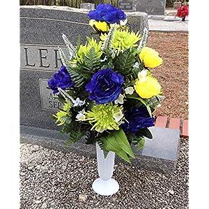 Silk Flower Arrangements with Loving Memories - Memorial Flowers