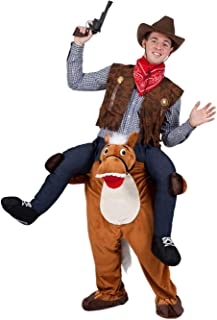 Halloween Carry Ride On Horse Mascot Costume Brown
