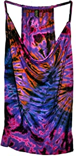 Amazing Grace Elephant Co. Women's Ethnic Chic Stretchy Summer Sexy Tie Dye Braid Straps Trendy Fashion Tank Top