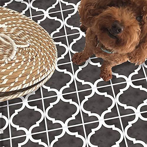 Vintage Gris Oscuro Autoadhesivo de despegar y pegar antideslizante impermeable de PVC extraíble para baño, cocina, decoración del hogar, suelo de pared, escalera, azulejos, 20 x 300 cm