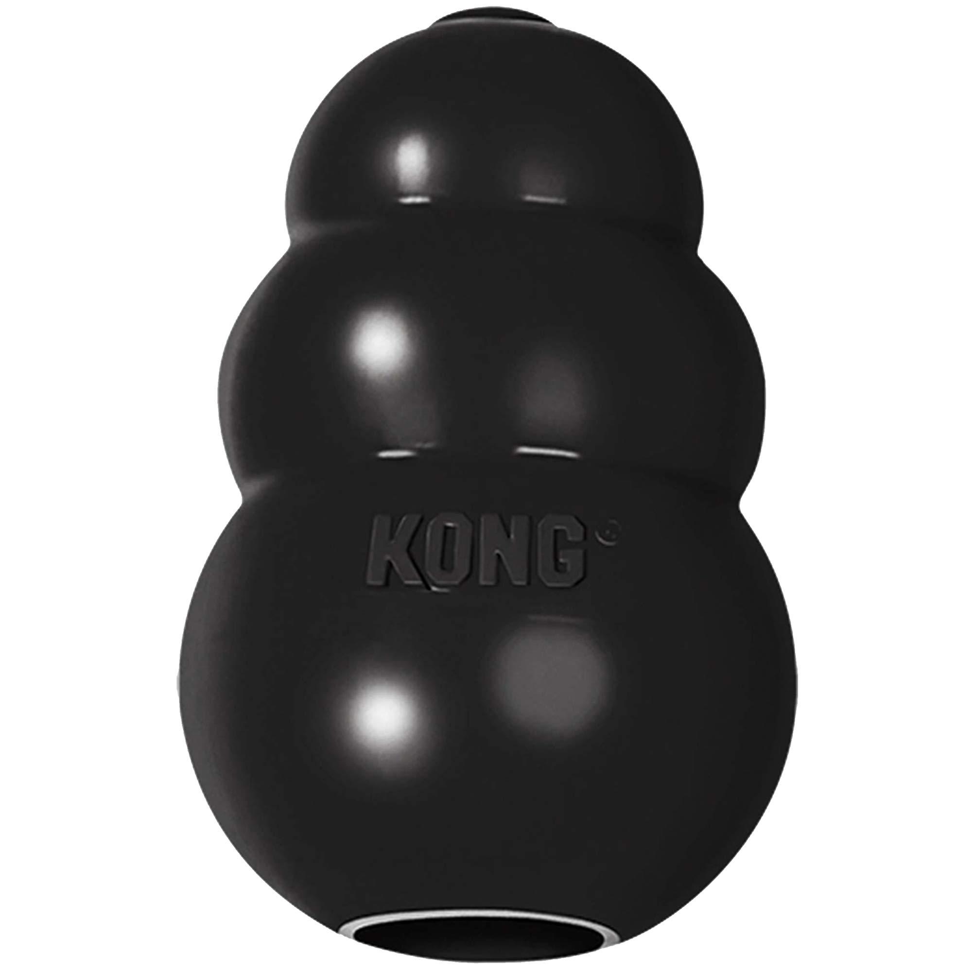 KONG - Extreme - Juguete de Robusto Caucho Natural Negro - para ...