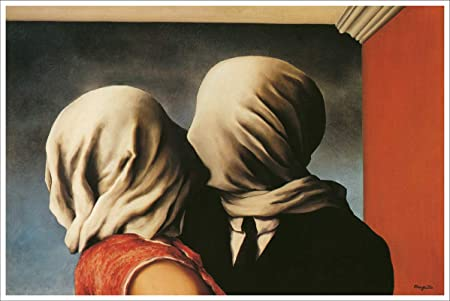 Amazon.com: Artist Rene Magritte Fine Art Poster Print of Painting The  Lovers CANVAS Print: Posters & Prints