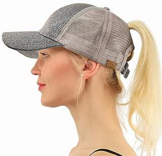 Hats Sports Casual Hat Fluorescent Hat Sequins Fluorescent Tail Cap Fashion (Color : Silver, Size : 56-59cm)