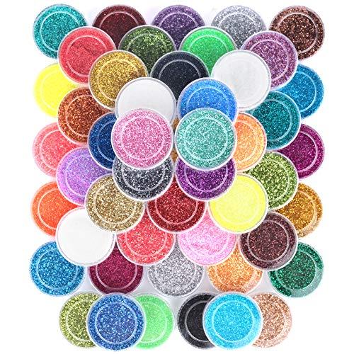 48 Colors Nail Glitter Set, FANDAME…