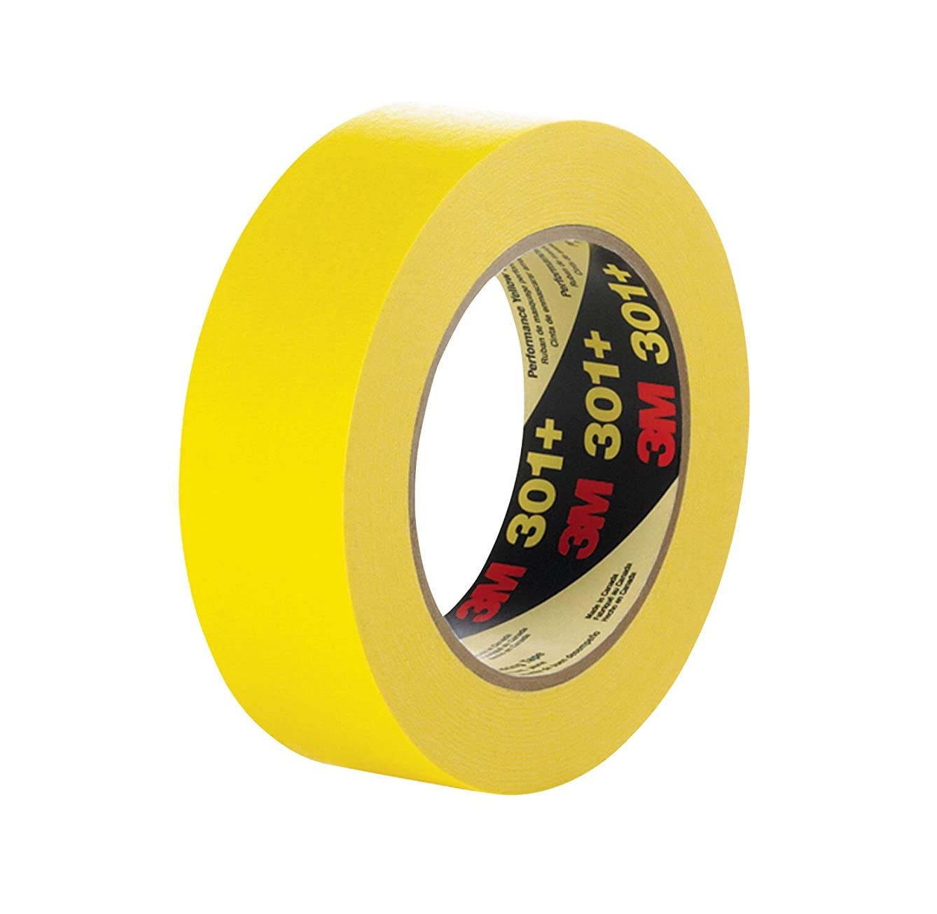 3M 301+18 301+ Yellow Masking or Painter's Tape, 18 mm Width e591070418063540