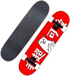 ألواح تزلج احترافية مقاس 31 × 8 بوصة للمبتدئين ، وألواح تزلج كروزر كاملة من 7 طبقات من القيقب ، لوحة,Ns1052