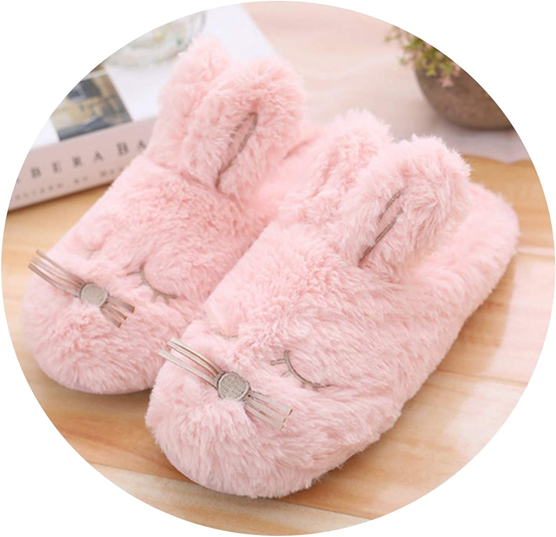Cartoon Winter Sweet Slippers Plush Slippers Indoor Bedroom Slipper Rabbit Women