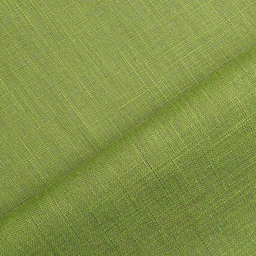 Holmar - Tissu en lin Vendu au mètre pré-lavé (20 couleurs) (pistache (pistazie))