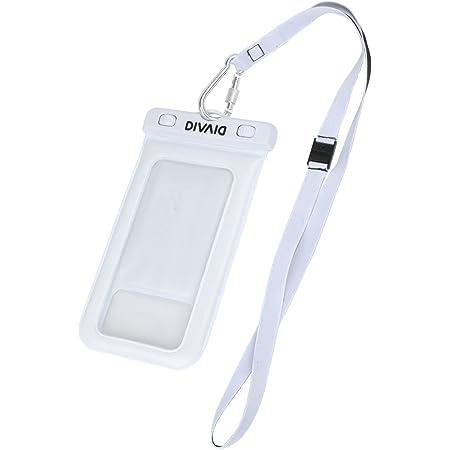 DIVAID 防水ケース スマホ用 iPhone 防塵 IP68 フローティング [ホワイト]