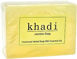 Vagad`s Khadi Handmade herbal Jasmine Soap Bar With Essential Oils - 125 GR (4.40oz)