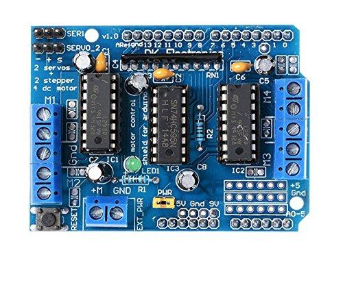 DollaTek L293D Motor Drive Expansions-Schild für Arduino Duemilanove Mega UNO R3 AVR ATMEL
