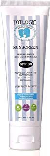 Sponsored Ad - TotLogic Natural Mineral Sunscreen SPF 30, 3 oz | Biodegradable Reef Safe Zinc Oxide Organic Sunblock For K...