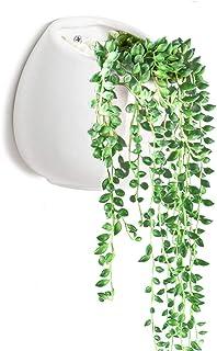Y&M Succulent Planter, (TM) Flower Pots Indoor Ceramic Gardening Planting Vase for Succulent and Cactus Plants with Hook