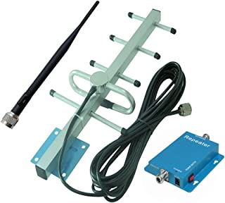 Can be Used for GSM CDMA WCDMA HSPA HSPA+ Mobile Phone 65dB 850MHz Cell Phone Signal Booster for Home and Office Including 50 feet RG58 Cable and Outdoor Panel Antenna Full Kit