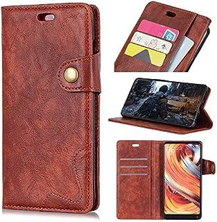 MeetJP LG G7 Fit 財布 レザー シェル ?と 保護 耐久性のある プロテクター ケース フォリオ フリップ 電話 カバー バッグ ?と カード スロットs,現金 ポケット,Brown