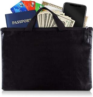 Fireproof Document Bag - Solid Silica fibreglass + Aluminium foil fibreglass - Fireproof Money Bag, Safe Storage Pouch, Fi...