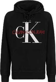 Calvin Klein Jeans Men's Washed Monogram Pullover Hoodie, Black