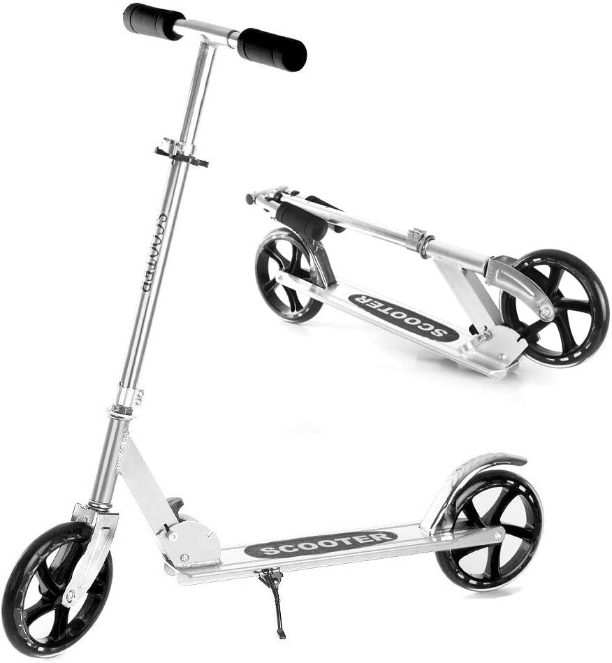 Superior Folding Spasm price Kick Scooter with 200mm Portable Adjustable Wheels- Big