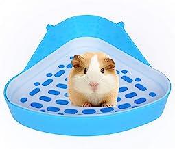 Hypeety Pet Toilet Small Animal Litter Tray Corner for Hamster Guinea Pig Ferret Gerbil Chinchilla Pet Small Rat Toilet (Random Color)