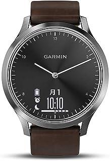 GARMIN(ガーミン) vivomoveHR BlackSilver Leather スマートウォッチ 活動量計 防水 【日本正規品】