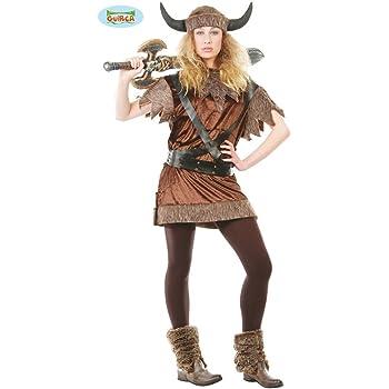 Guirca – Disfraz de vikinga guerrera para adulto, M, 80416: Amazon ...