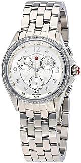 Michele Belmore Chrono MWW29B000001 0.34 cttw Diamonds Steel Quartz Ladies Watch