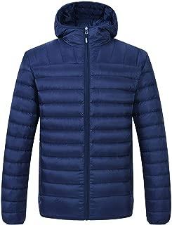 TBMPOY Men's Winter Puffer Down Jacket Lightweight Insulated Packable Warm Coat