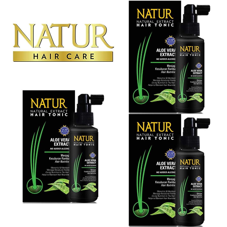 亡命具体的にダーリンNATUR ナトゥール 天然植物エキス配合 Hair Tonic ハーバルヘアトニック 90ml×3個セット Aloe vera アロエベラ [海外直商品]