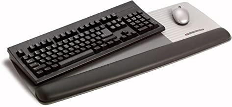 3M Gel Wrist Rest for Keyboard and Mouse with Tilt-Adjustable Platform, Soothing Gel with Durable, Easy to Clean Leatherette Cover, Precise Mouse Pad, 25.5