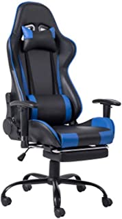 QDY Racing Ergonomic Desk Chairs, Reclining Gaming Chair, Office Chairs and Armchairs, with Retractable Footrest and Lumba...
