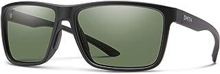 Smith Riptide Polarized Sunglasses, Matte Black/chromapop Glass Polarized Blue Mirror, one Size