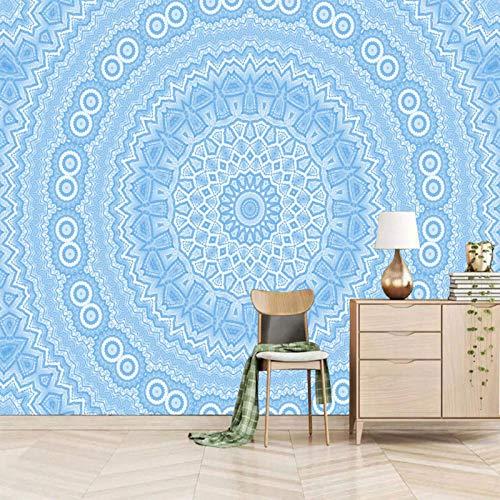 Msrahves Paredes Decoración Hogar Azul elegante estampado creativo Fotomurales Decorativos Pared 3D Póster Sala de Estar Dormitorio TV Fondo Papel Pintado 3D Fotomurale 3D Tv Telón De Fondo Pared
