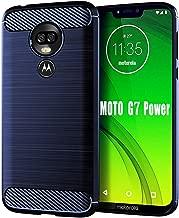 Moto G7 Power Case, HNHYGETE Soft Slim Shockproof Anti-Fingerprint Full Protective Phone Cases for Motorola Moto G7 Power (Blue)