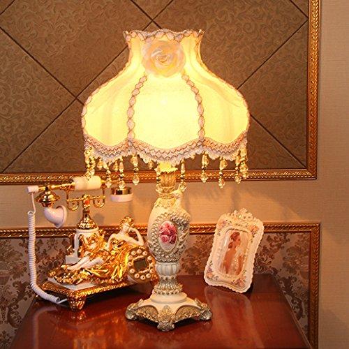CKH Europese creatieve bedlampje slaapkamer woonkamer tafellamp neo-klassieke retro American grote landelijke warme bureaulamp