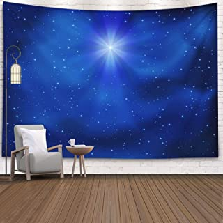 Gesmatic Popular Wall Hanging Tapestry, 80X60 Inches Premium Fabric Shining Christmas Star Night Sky Background Accessories for Home Decoration Bedding Decorative Tapestry,Red Green