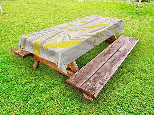 ABAKUHAUS Abstract Tafelkleed voor Buitengebruik, Sier strepen Motieven, Decoratief Wasbaar Tafelkleed voor Picknicktafel, 58 x 84 cm, Veelkleurig