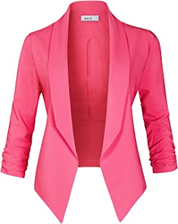 0a4b4f3a016 Womens Casual Work Office Lightweight Open Front Long Sleeve Drape Blazer  Jacket