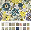 eLuxurySupply Fabric by The Yard - Polyester Blend Upholstery Sewing Fabrics with LiveSmart Technology - Loriana Meadow Pattern