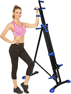 Flyerstoy Folding Vertical Climber Home Gym Exercise Climbing Machine for Home Body Trainer Stepper Cardio Workout Training