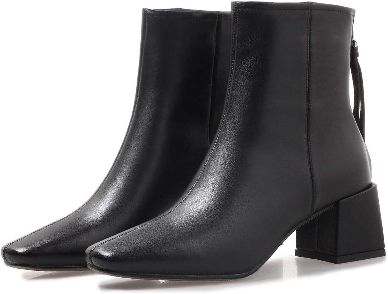 HHXWU Schuhe Damenschuhe Stiefel Damen Stiefel Stiefelies Leder, Schwarz, 37