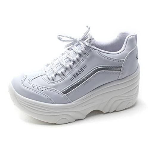 07cc6e3c38a0 EpicStep Women s Cheerleaders Shoes High Heels Lace up Casual Platform  Fashion Sneakers