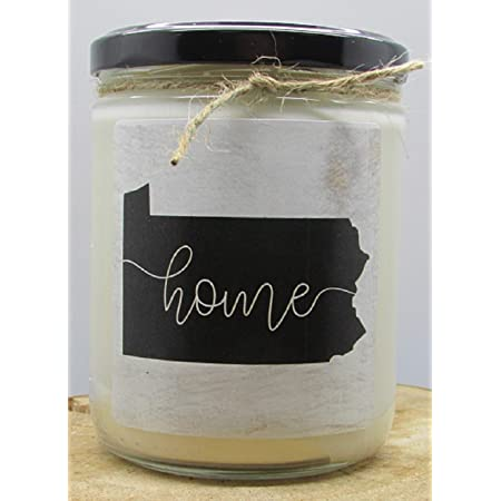 Pennsylvania Kraft Label Scented Soy Candle Clove Vanilla Amber 10 Oz Glass Jar Candle Made In The Usa Decorative Candles Going Away Gifts For Friends State Candles Home Improvement