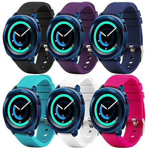 Fit-power – Smartwatch-Ersatzarmband, 20 mm, für Samsung Gear Sport / Samsung Gear S2 Classic / Huawei Watch 2 Watch / Garmin Vivoactive 3 / Garmin Vivomove HR, 20 mm Uhrenarmband 6B