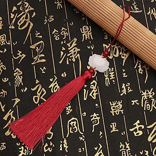 Cadena de extensión de pelo con borla de loto, 5 unidades, paquete de 5 pendientes colgantes de borla de loto de jade blanco y borla de loto para bricolaje (color: 2)