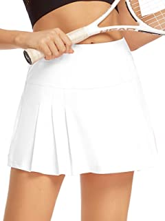 siyecaoo Women's Athletic Skorts Lightweight Active Skirts with Shorts Running Tennis Golf Workout Mini Skirt with Pockets