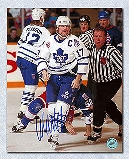 AJ Sports World Wendel Clark Toronto Maple Leafs Autographed Fight Champion 11x14 Photo
